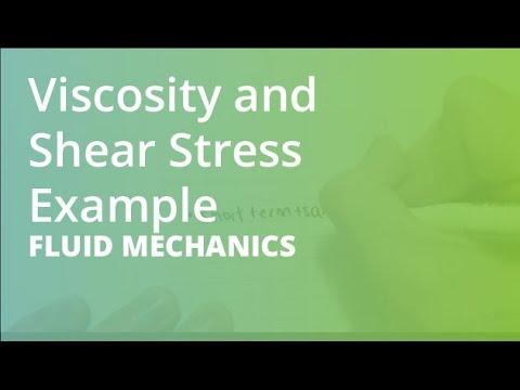 Viscosity and Shear Stress Example | Fluid Mechanics