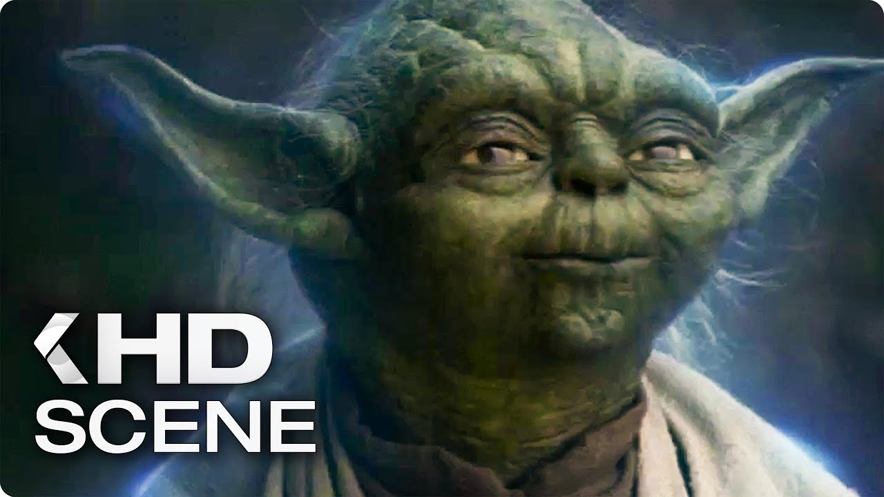 Star Wars 8 The Last Jedi Yoda Visits Luke Clip 2017 Youtube