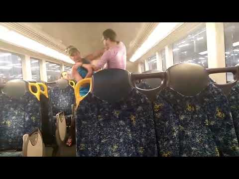 Sydney Train Brawl Ends Bizarrely in a Hug