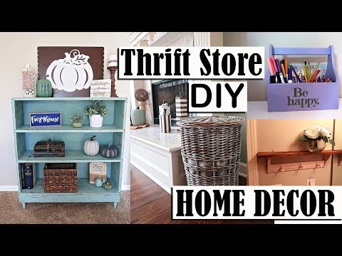 THRIFT STORE DIY HOME DECOR PROJECTS - FARMHOUSE INSPIRED DECOR