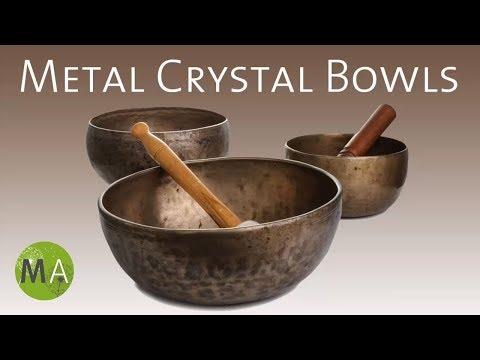Metal Crystal Bowls - Tibetan Singing Bowls For Meditation