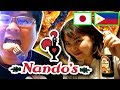 Japanese & Filipino Try Nando's with Soy Sauce || TASTE TEST Portuguese Food