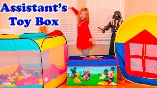 The Assistant Explores the Surprise Mickey Mouse and Blaze Toys Tent