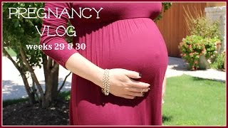 Pregnancy Vlog Wks 29 & 30 | Babymoon, Trouble Breathing & More Rib Pain! Thumbnail