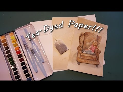How to Tea Dye Paper... and then Watercolor on it!