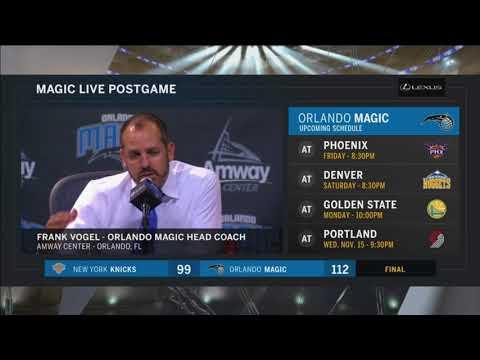 Frank Vogel -- Orlando Magic vs. New York Knicks 11/08/2017