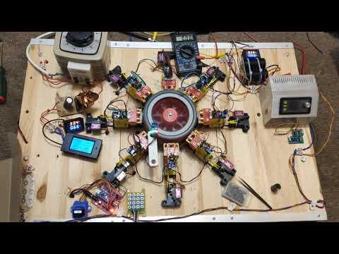 Улучшенные характеристики электромагнитного двигатель на ВМП V2.0 с рекуперацией