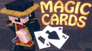 Minecraft | MAGIC CARDS MOD Showcase! (TELEPORTING, BUFFS, MAGIC, TRICKS)