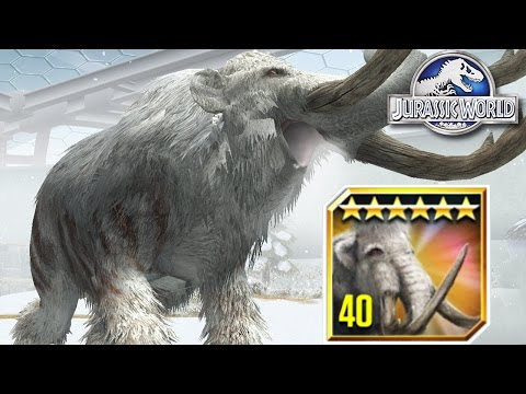 Max Level Woolly Mammoth Feeding | Jurassic World - The Game The Woolly Mammoth Update