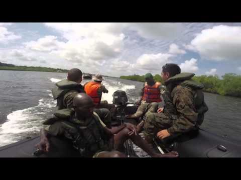 U.S. Marines, Coast Guardsmen, Senegalese Military Train Together