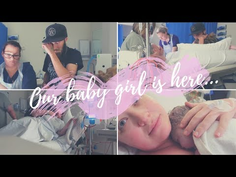 OUR BABY GIRL IS HERE!   emotional birth after pregnancy loss