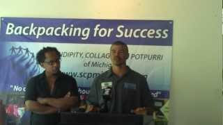 Derrick May and Mike Banks At The Backpacking for Success Press Conference 2012