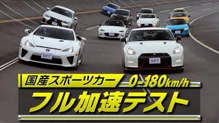 国産スポーツ 0-180km/h フル加速TEST  V OPT 257 ①