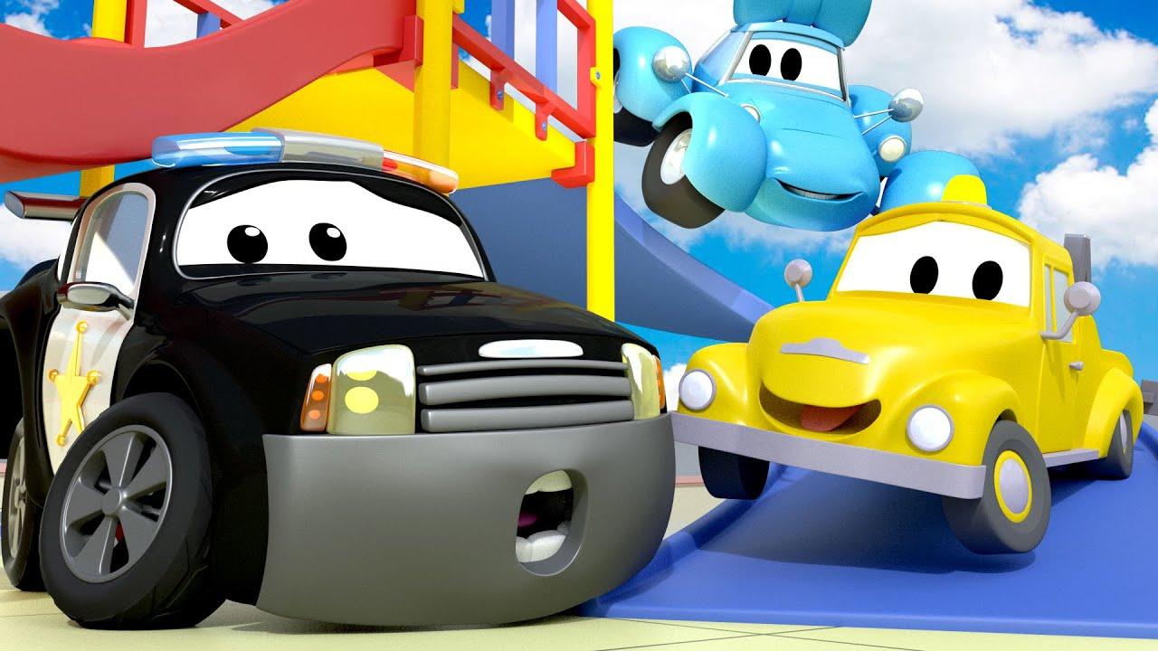 đội xe tuần tra - Special back to school - the fire alarm - Thành phố xe
