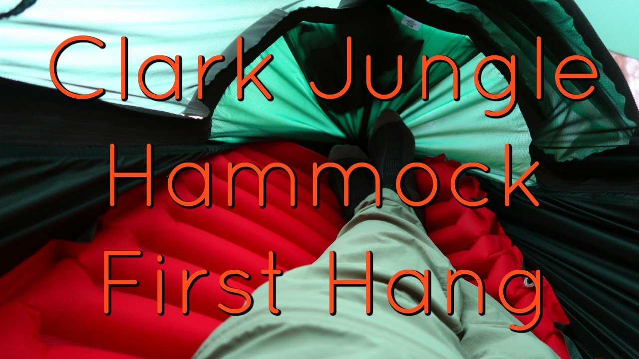 Medium image of clark jungle hammock first hang experience