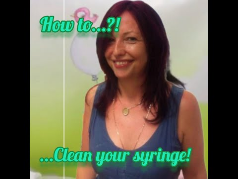 Martina Cosgrave Syringe Cleaning