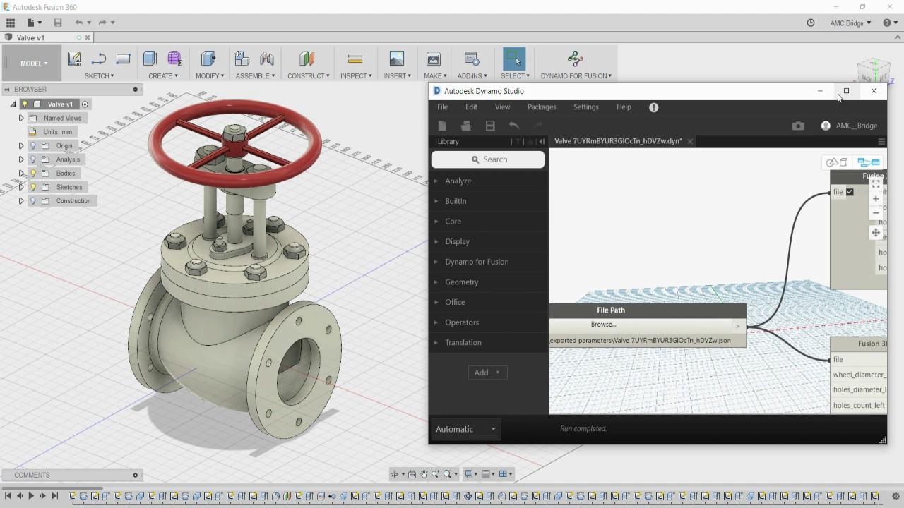 Dynamo for Autodesk® Fusion 360™ | AMC Bridge