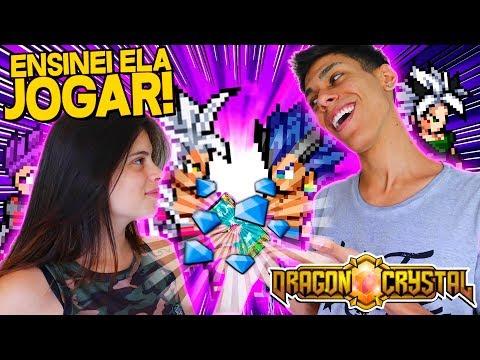ENSINEI ELA A JOGAR DRAGON BALL NO CELULAR !!! - Dragon Crystal ‹ Ine ›