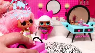 Pretend Play with New Furniture Sets for LOL Surprise Doll House ! Toys and Dolls for Kids   SWTAD