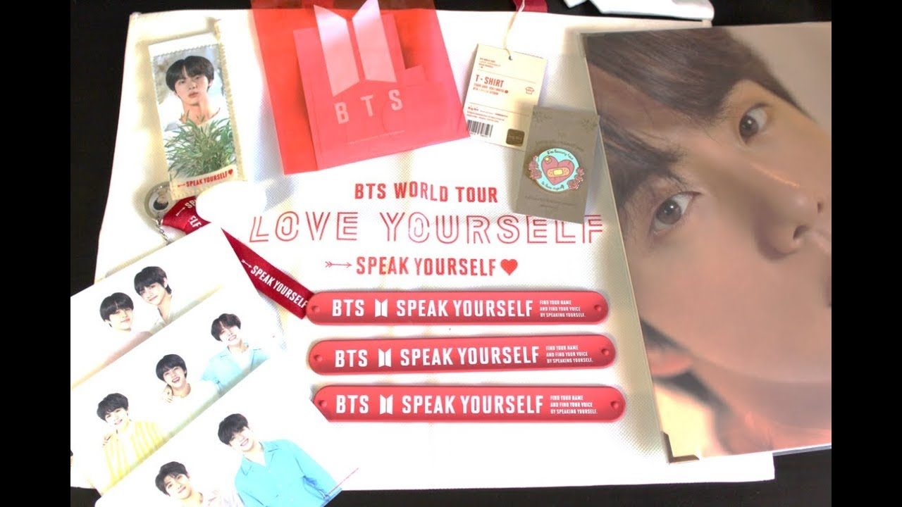 961ad991 BTS 방탄소년단] : Speak Yourself Merch Haul + Pop-up Store - YouTube