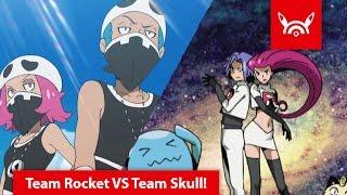 Team Rocket VS Team Skull in Pokémon Sole e Luna!