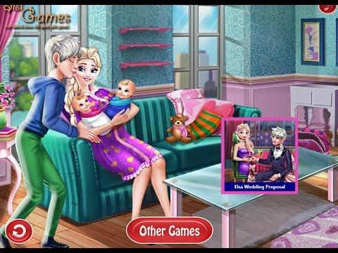 NEW ЭЛЬЗА РОДИЛА ДВОЙНЮ—мультик-игра для девочек