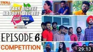 Yaar Jigree Kasooti Degree | Episode 6 - COMPILATION| Punjabi Web Series 2018 | Troll punjabi|