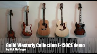 Guild Westerly Collection F-150CE Acoustic-Electric Guitar Demo / Review