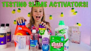TESTING SLIME ACTIVATORS