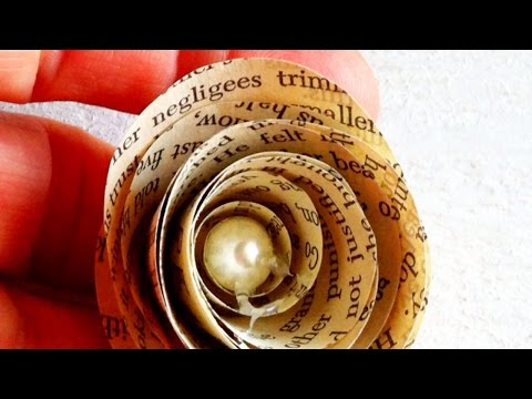 Make Gorgeous Paper Book-Page Roses - Crafts - Guidecentral