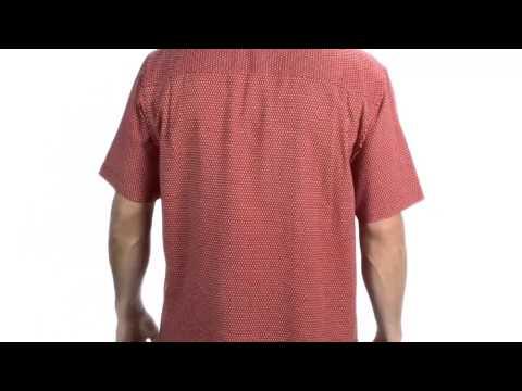Toscano Silk Blend Diamond Print Shirt - Short Sleeve (For Men)