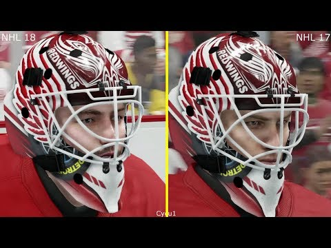 NHL 18 vs NHL 17 Graphics Comparison - Red Wings vs Penguins