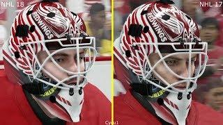 NHL 18 vs NHL 17 Graphics Comparison - Red Wings vs Penguins