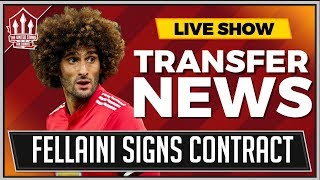OFFICIAL! Fellaini Signs Manchester United Contract! Latest Transfer News