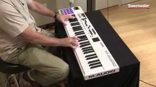 М-аудіо код-61 по USB/MIDI контролер клавіатури демо