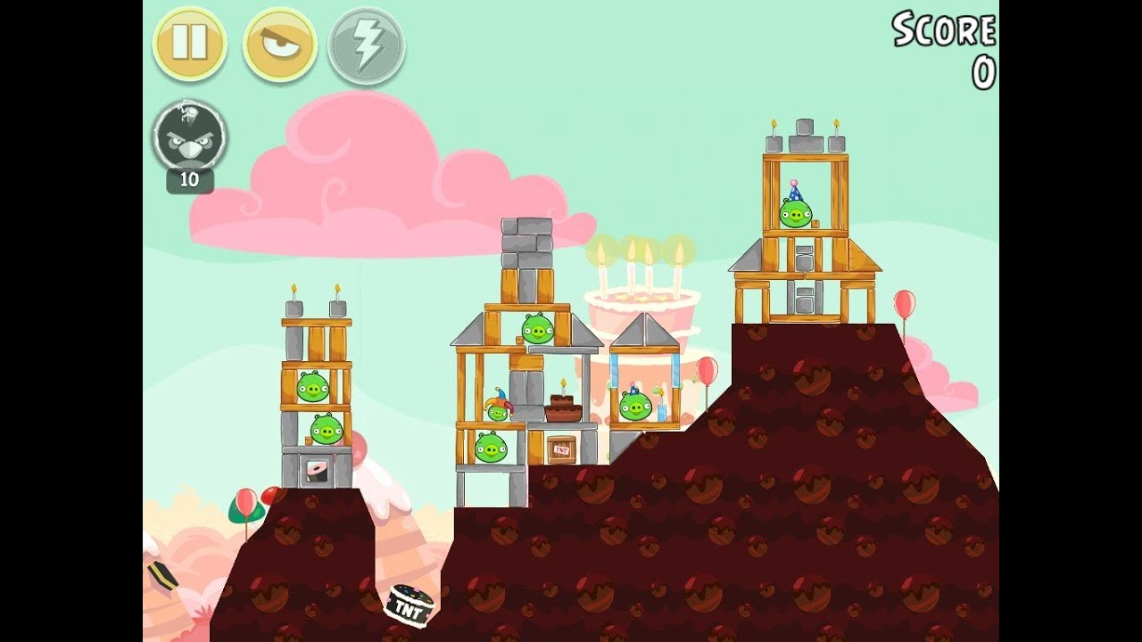 Angry Birds Birdday Party Cake 4 Level 9 Walkthrough 3