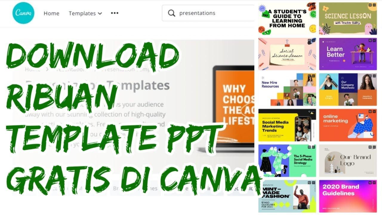 Cara Dapat Template Ppt Gratis Di Situs Canva Template Ppt Animasi Gratis Youtube