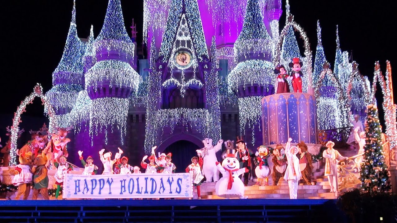 2015 celebrate the season show at mickeys very merry christmas party jolly holidays disney world youtube