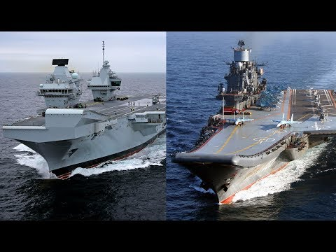 HMS Queen Elizabeth vs Admiral Kuznetsov Aircraft Carrier