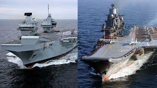 HMS Queen Elizabeth vs Admiral Kuznetsov Aircraft Carrier