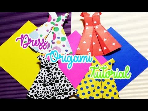 DIY How To Make Dress from Origami Paper Origami Tutorial OKAY DIY