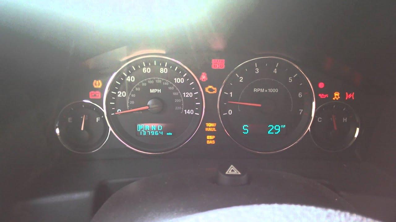 07 Jeep Commander Dash Light Disco Show