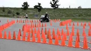 Мастерство вождения.Полицейский мотоцикл