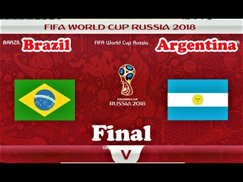 Brazil vs Argentina | FIFA World Cup Russia Final 2018 | PES 2018 Gameplay HD