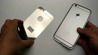installation guide for aluminum ultra thin mirror metal case cover iphone 6 6s plus