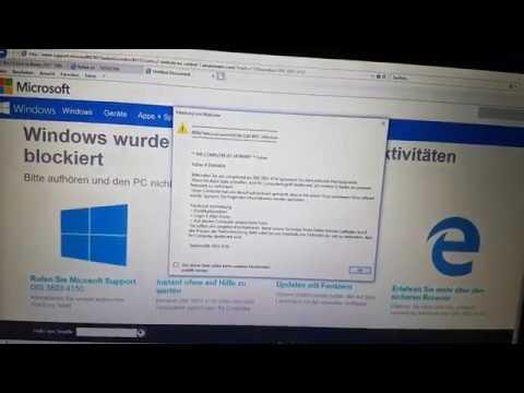 Microsoft Sicherheitsalarm Fake
