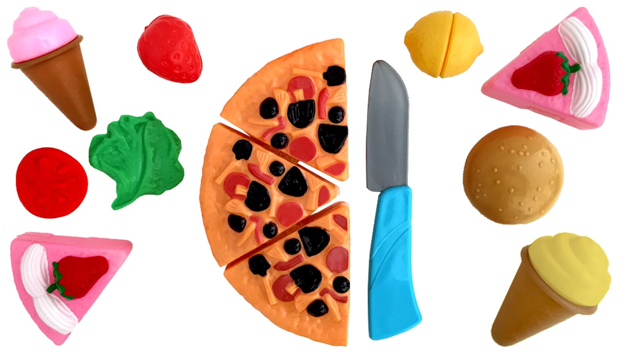 Just Like Home Toy Food : Deluxe slice and play food set just like home playset