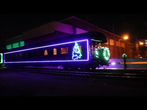 6350 CP Holiday Train 2018 Just Leaving Milwaukee Intermodal Station