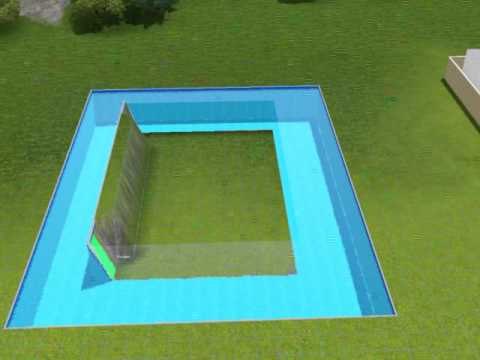 The sims 3 tutorial su come costruire una casa dentro una for Casas con piscina dentro