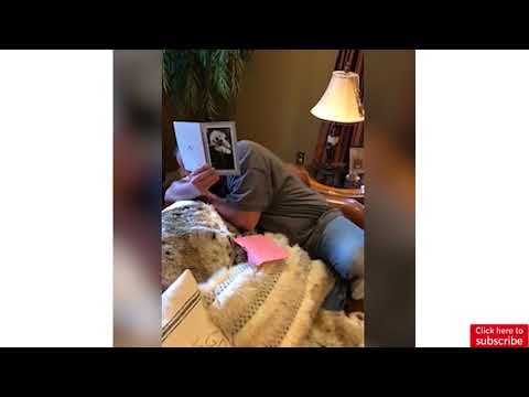 Grieving Ontario dad immediately breaks down crying when surprised with puppy
